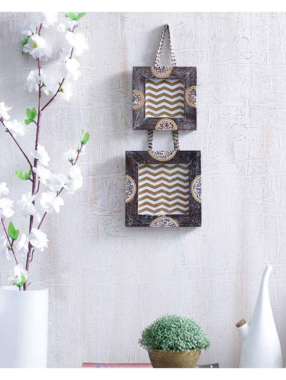 Ethnic Wooden Hanging Photo Frame Set