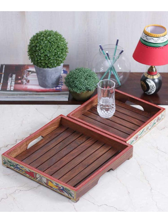 Handcrafted Madhubani Tray Set