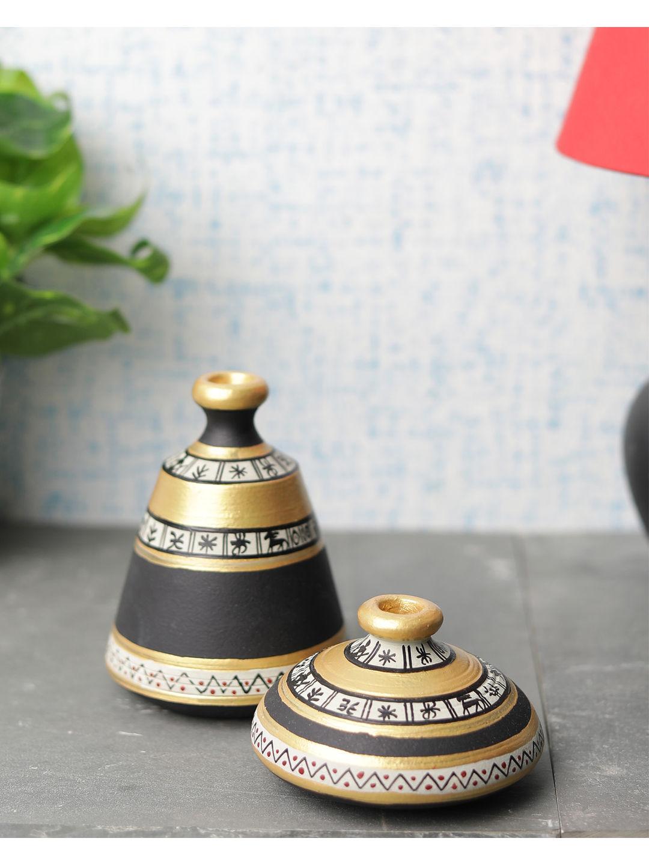Black Gold Terracotta Pots