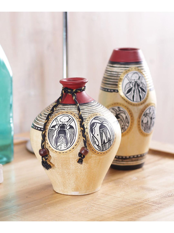 Set of Golden terracotta Vases