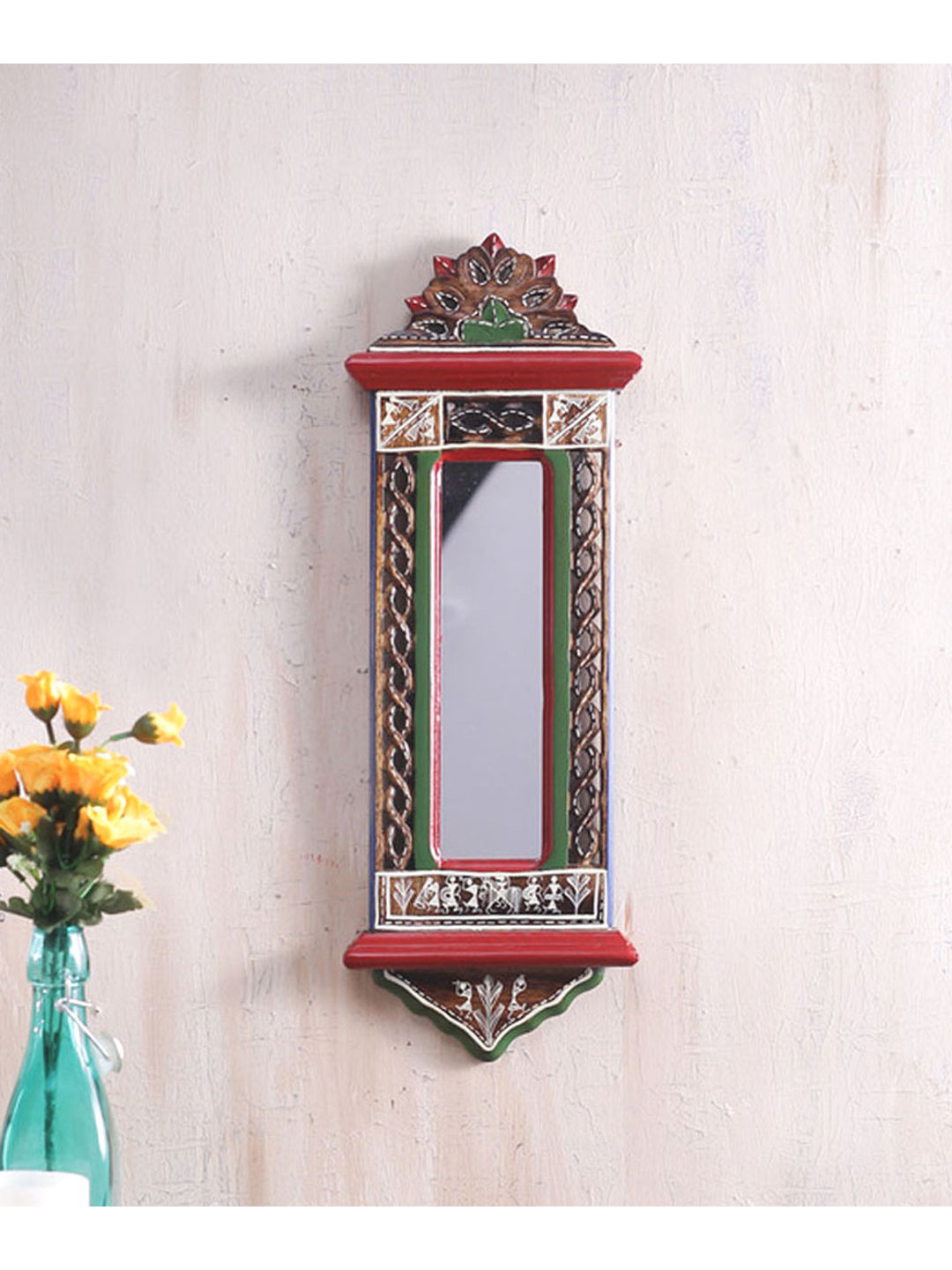 Ethnic Wooden Mirror