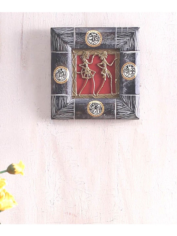 Handmade Wooden Dhokra Wall Hanging
