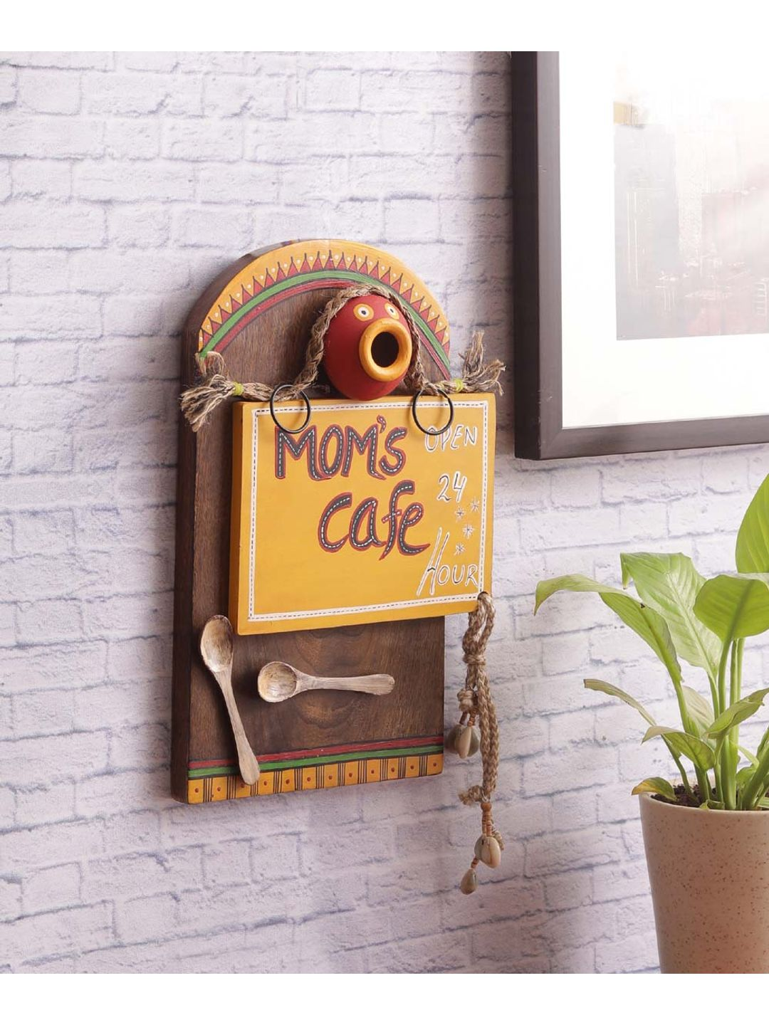 Hand Crafted 24x7 Mom's Kitchen Wall Hanging