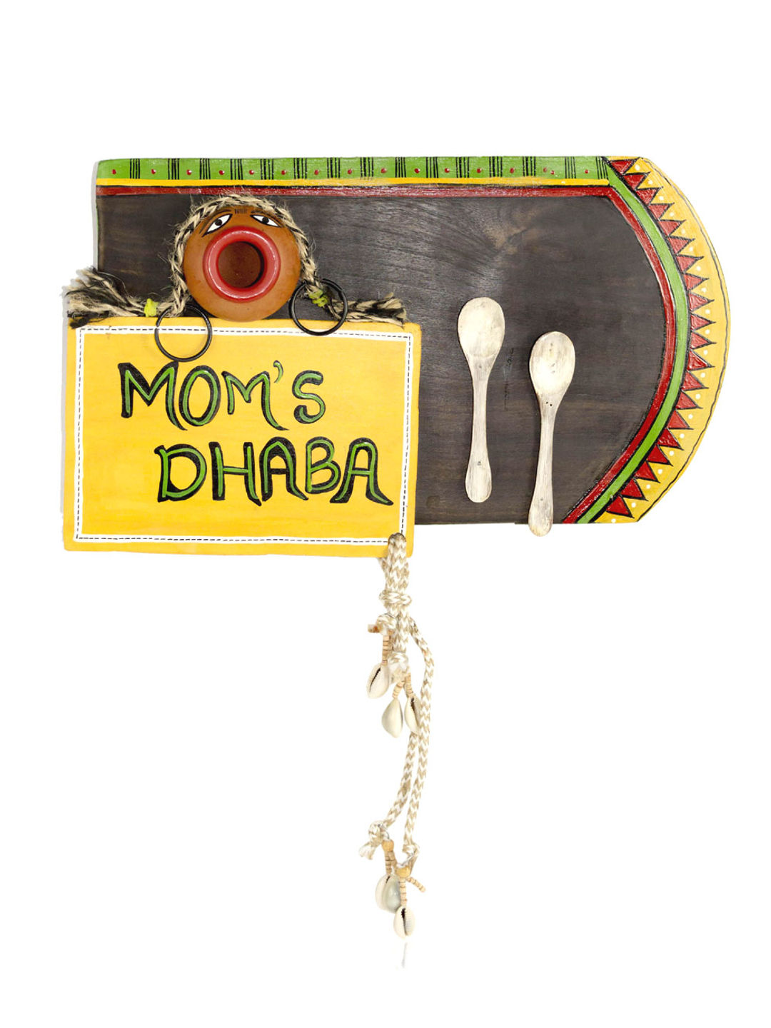 Hand Painted Mom's Dhaba Kitchen Wall Hanging