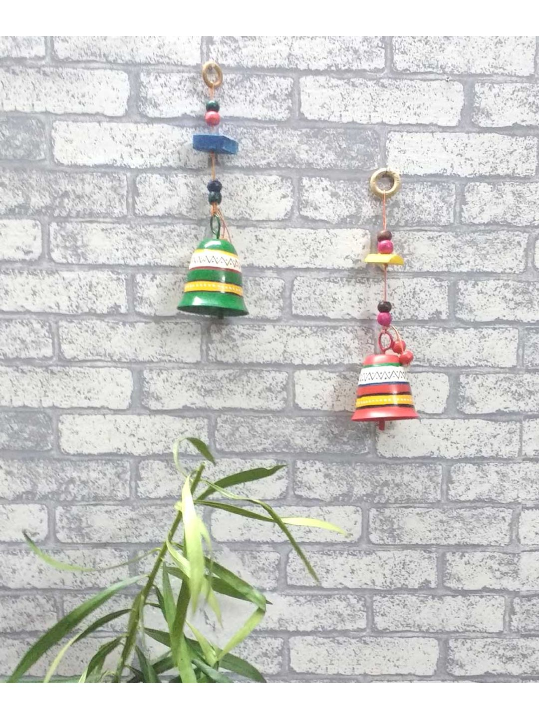 Hand Painted Colorful Bells Set of Two