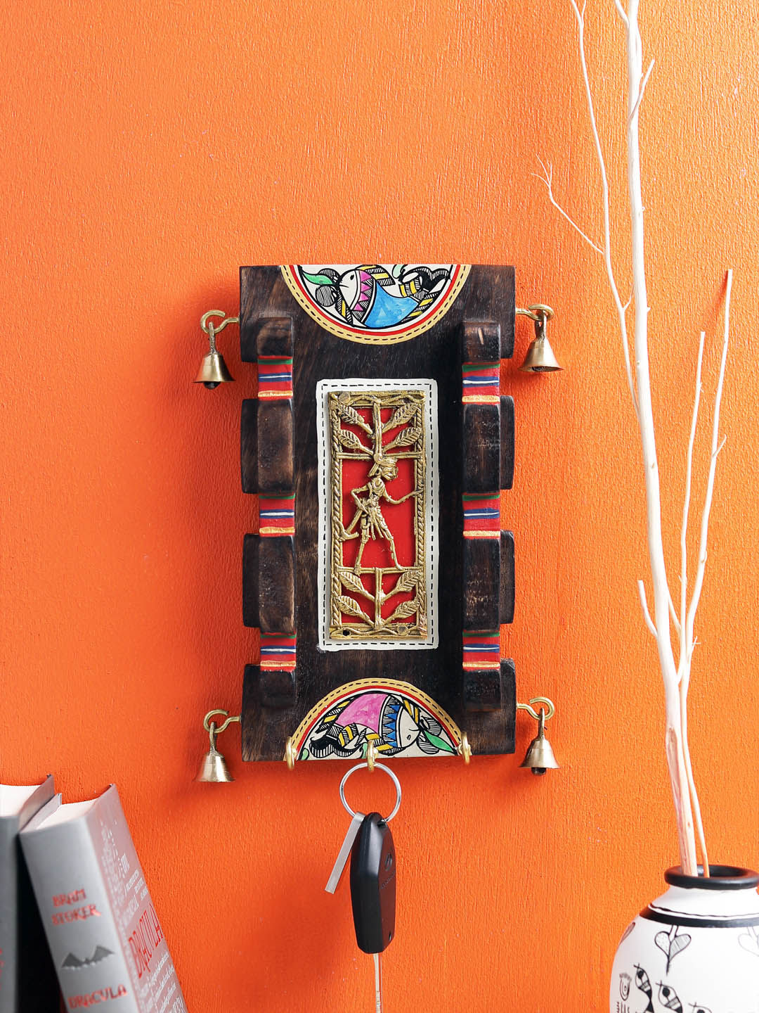 Handcrafted Dhokra Panel Key Hook
