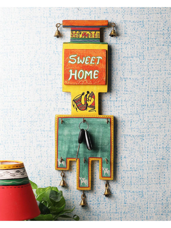 Ethnic Wooden Sweet Home Key Hook