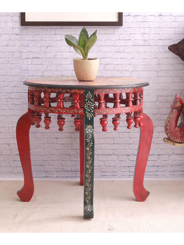 Rajasthani Round Lattoo Table