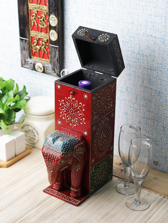 Rajasthani Elephant Bottle Holder Box