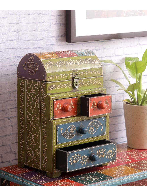 Hand Painted Rajasthani Multi Utility Box
