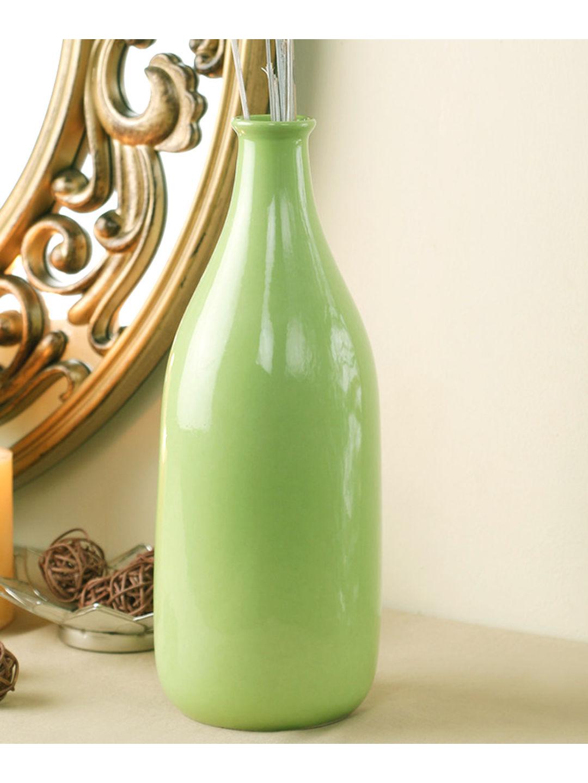 Ceramic Fresh Green Bottle Vase