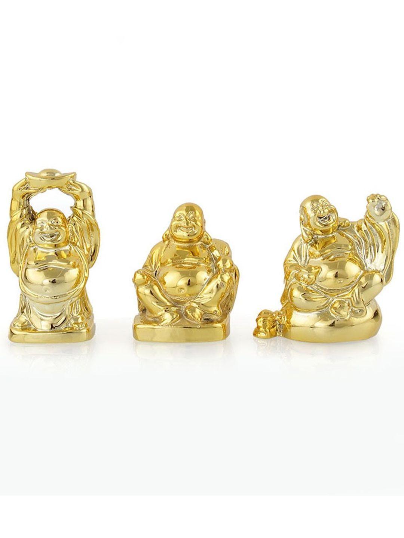 Miniature Laughing Buddha Set