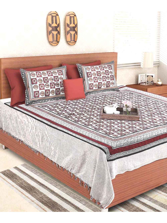 Rajasthani Earthen Shade Handloom Double Bedsheet
