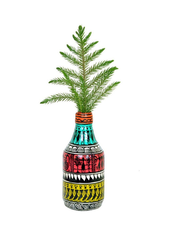 Handpainted Small Tribal Bottle