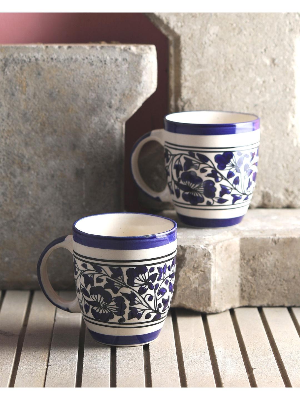 Blue Mughal Ceramic Cups Set of Six