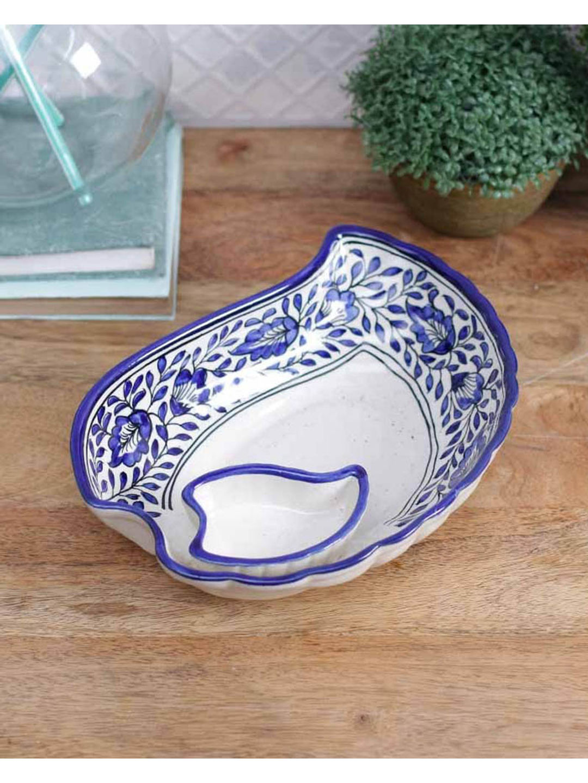 Blue Ceramic Snacks Plate