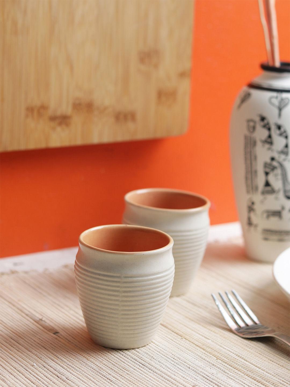 Marble Ceramic Kulhad Cups Set
