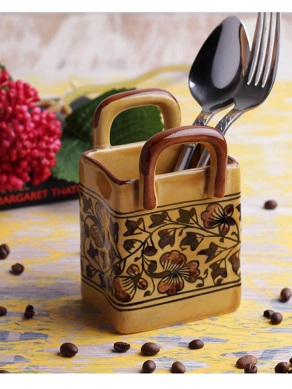 Hand Made Ceramic Cutlery Holder Basket
