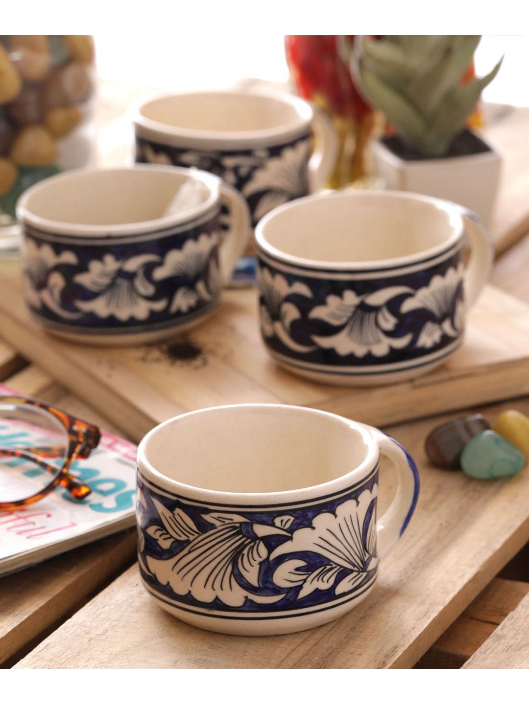 Hand Made Blue Tea Mugs Set of Six
