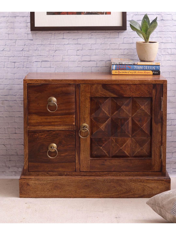VarEesha Sheesham Wood Bedside Table Cabinet