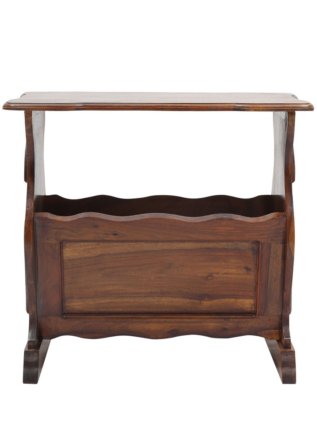 VarEesha Sheesham Wood Magazine Holder cum Side Table