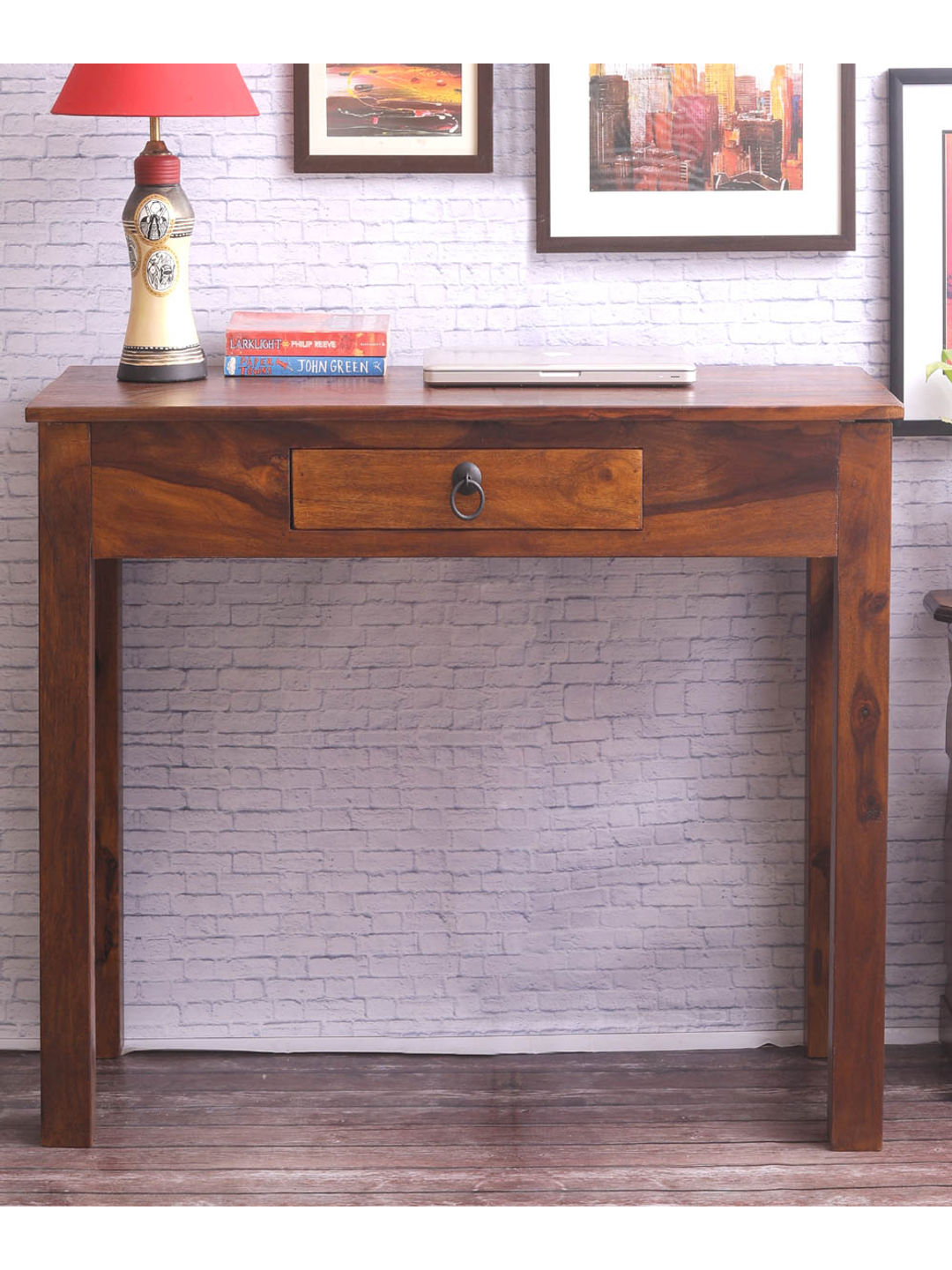 Sheesham Wood Cross Console