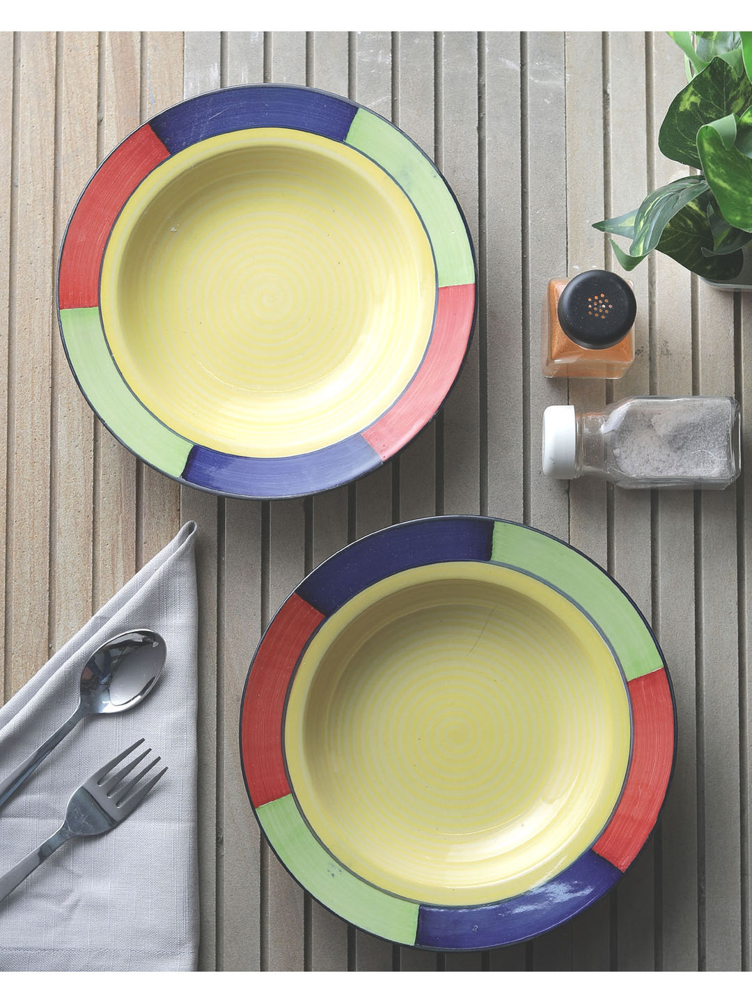 Blue Moroccon Ceramic Dinner Set Of Eight - Plates With Currykartori ...