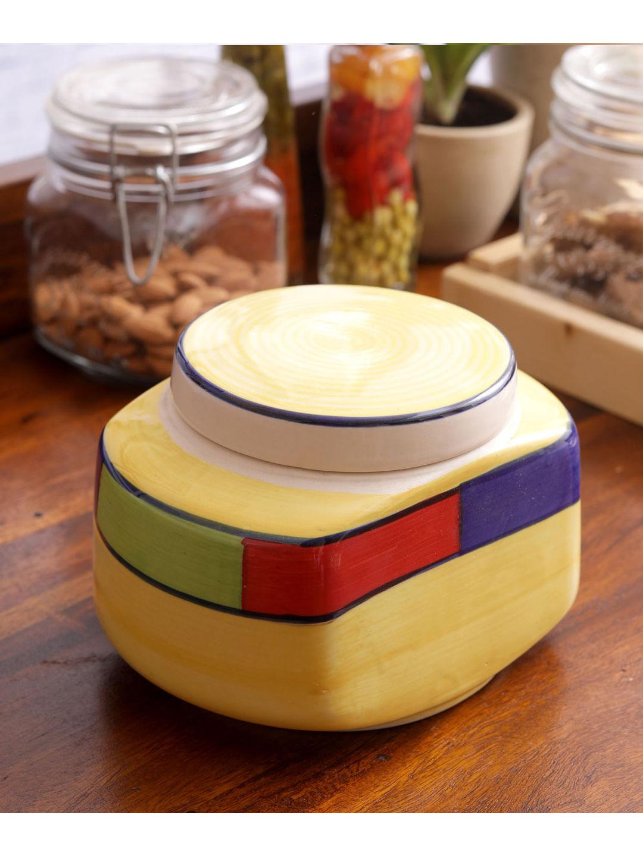 Hand Made Ceramic Rectangular Multipurpose Jar