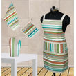 Stripe Apron Combo. Set of 4 Pcs by Dekor World (MORE COLOR)