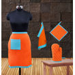Colour Bonanza Apron Set (Pack of 4 Pcs) by Dekor World (MORE COLOR)