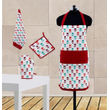 Floral Printed Apron Set (Pack of 4 Pc) by Dekor World
