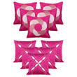 Dekor World Purple Emboridery Combo. Cushion Cover