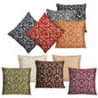 Dekor World Multi Golden Printed Combo. Cushion Cover (Pack of 10)