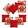 Dekor World Maroon delight Combo. Cushion Cover (Pack of 10)