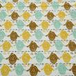Owl Printed Cotton Green Diwan Set (Pack of 6) by Dekor World