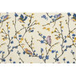 Bird Printed Blue Place Mat (Pack of 6) by Dekor World