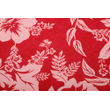 Dekor World Floral Printed Maroon Table Cover With Place Mat & Napkin (Pack of 13)