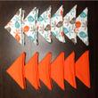 Bird Plain Printed Orange Napkin Set (Pack of 12)By Dekor World