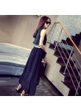 Black O-neck stylish Maxi Dress