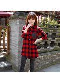 Long Plaid Shirt - KP001424