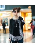 Stylish Knitted Poncho -Black- KP001406
