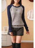 Pearl Design Worsted Sweater - KP001394