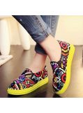 Tribal printed hot canvas shoes