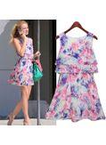 Cute Chiffon Printed Summer Dress