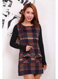 Paid Woolen Winter Dress - KP001447