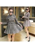 Cotton + Wool Winter Dress - KP001517