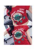 Red Printed T-shirt - KP001595