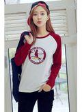 Cute Color Block T-shirt - KP001600