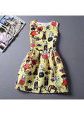 Cute Printed Summer Dress - KP001669