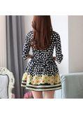 Polka Dot Floral Dress - KP001736
